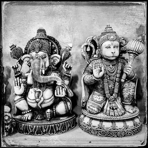 Ganesha and Hanuman