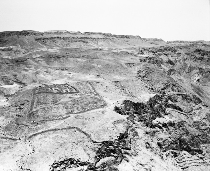 One of several of the Roman encampments that circled the fortress at Masada is still clearly visble after almost 2000 years.