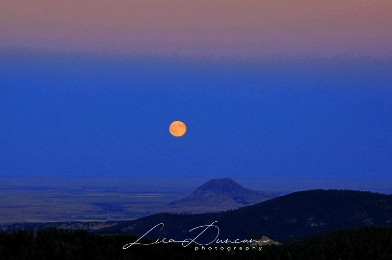 Bear Butte Hunter's Moon<br /> October, 2011