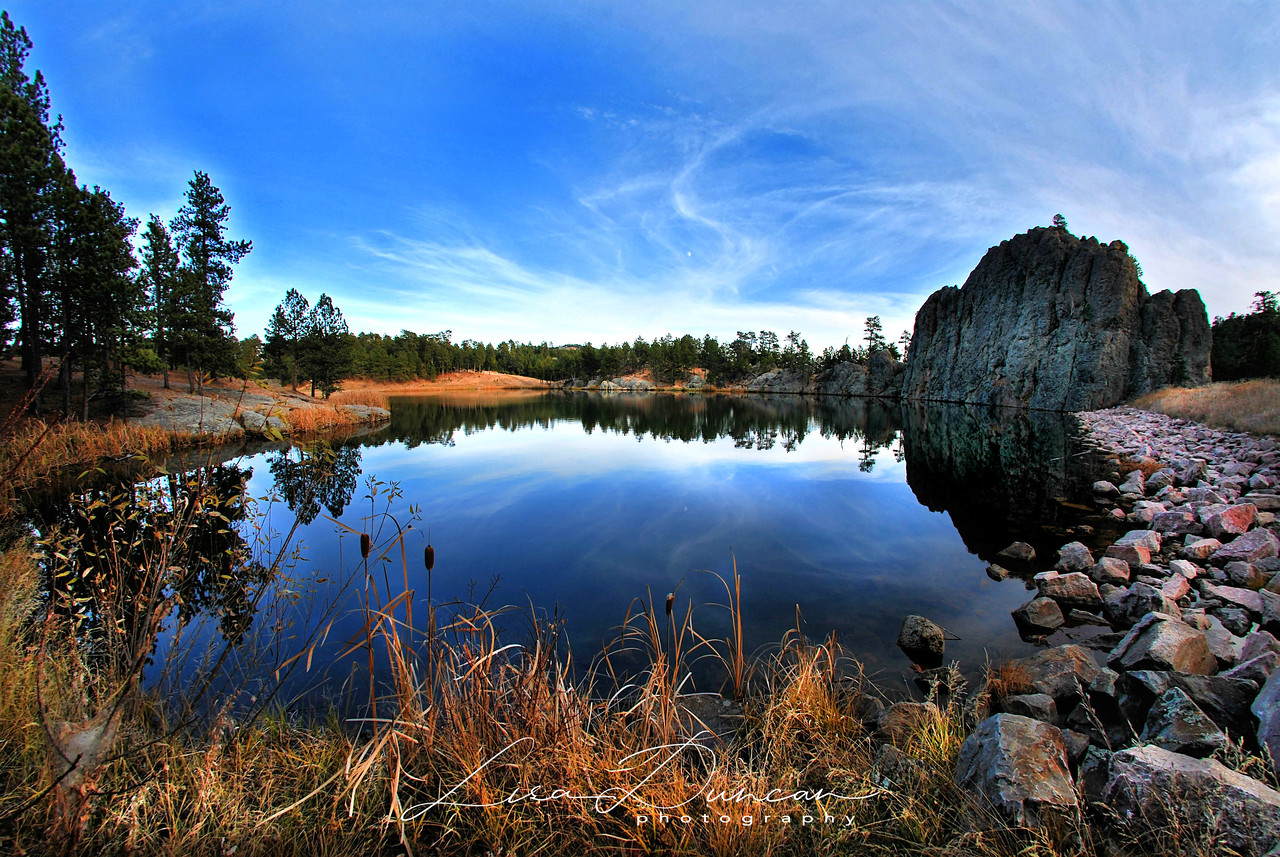 Legion Lake<br /> Custer State Park, February 2012