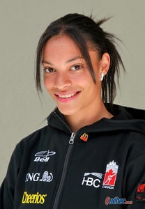 Kalyna Roberge, Speedskating, Canada<br /> Saint-Étienne- de-Lauzon, Quebec | *medal contender*<br /> <br /> Kalyna Roberge will be competing in the 500-meter, 1000-meter, 1500-meter, and the 3,000-meter relay. This is the 23-year-old athlete's second Olympics, having claimed a silver medal in the women's 3,000-meter relay at the 2006 Games. <br /> <br /> Interesting tidbits: A former world junior champion, Ms. Roberge placed 4th in the 500-meter event at the 2006 Winter Olympics. Her father is Canadian and her mother is from Mauritius.