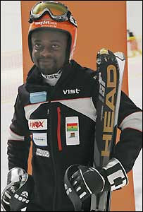 "Kwame Nkrumah-Acheampong, Slalom Skiing, Ghana<br /> born in Glasgow, Scotland | raised in Ghana <br /> <br /> It doesn't snow in Ghana, but that's not stopping the country from making its Winter Olympics debut this year with its one-man team. Ian Chadband of the Telegraph (UK) describes Mr. Nkrumah-Acheampong, 35:""You can bet on it; the unreal tale of the lone black African skier who, despite being self-taught on indoor English slopes, ignored by his home country and crippled by £10,000 [US$15,700] debts, keeps alive an Olympic odyssey for six years through his own inventiveness, charm and bloody-mindedness until he finally makes history in Vancouver. Welcome to Cool Runnings transported to Milton Keynes, via Glasgow and Accra.""<br /> <br /> Mr. Nkrumah-Acheampong says more Africans should consider strapping on some skis. ""I think Africans have a good chance of making it in skiing because of our physical structure. The only thing we have to overcome is the cold"", he told the BBC.<br /> <br /> Interesting tidbits: His nickname is ""The Snow Leopard"". He started skiing five years ago at a London indoor ski center where he worked as a receptionist."