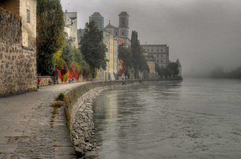 Morning fog in Passau