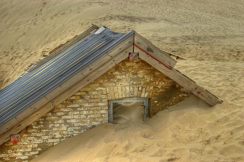 Hous i sand