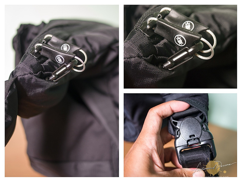 The Smart Zipper Security and shoulder strap buckle