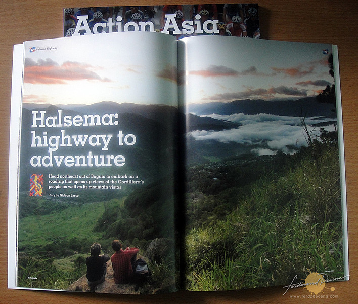 Opening spread for the feature story on the Cordilleras