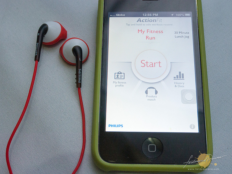 The Philips ActionFit App on an iPhone