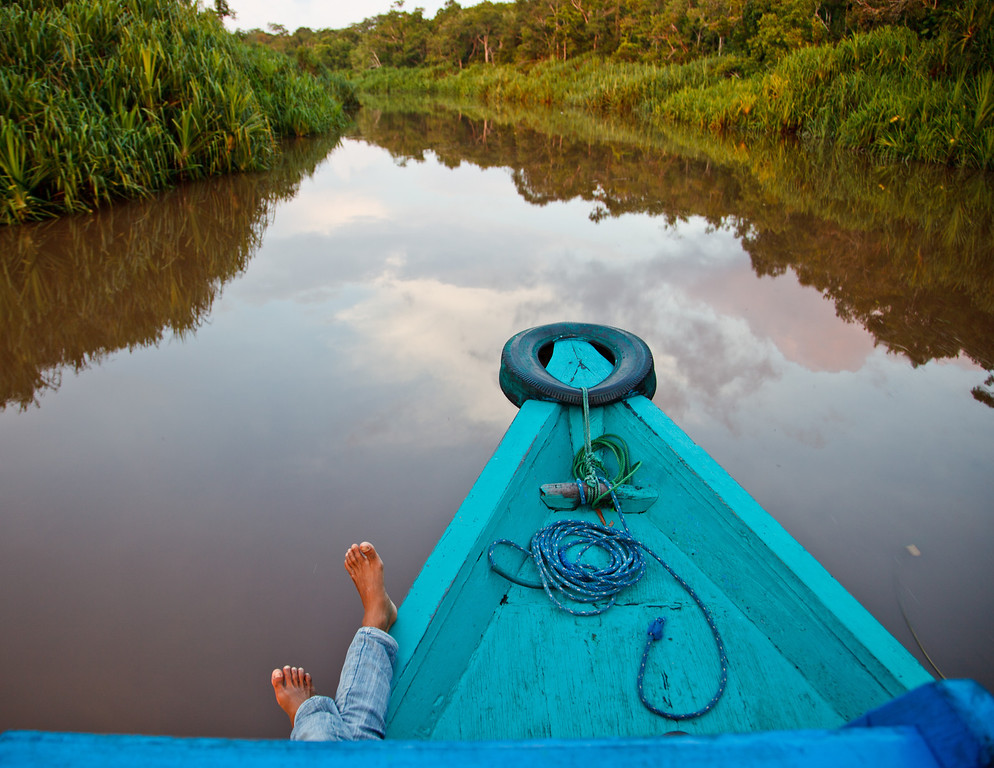 The trip up the mangrove-lined Sekonyer River from the nearest tourist lodge to Camp Leakey takes over three hours by traditional riverboat, a 40-foot wooden vessel powered by a one-cylinder motor.