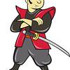Japanese Samurai Warrior With Sword