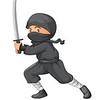 Ninja on white