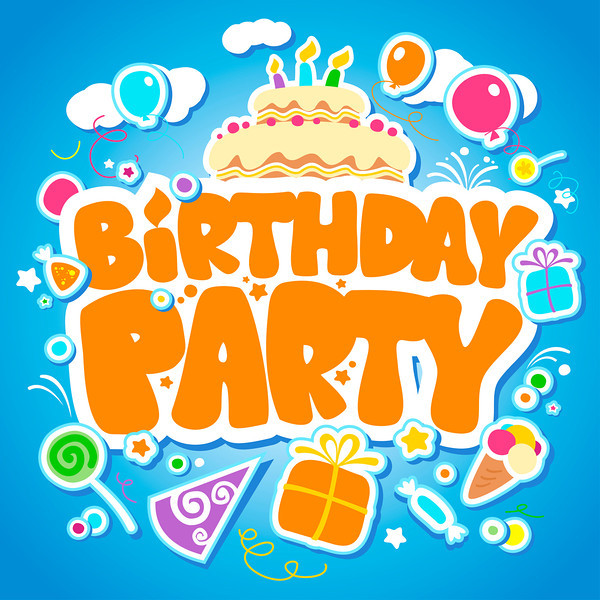 Birthday Party design template.