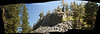 Panoramic of the Devil's Postpile.