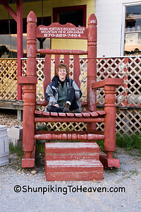 Joann in Oversized Rocking Chair, Stone County, Arkansas