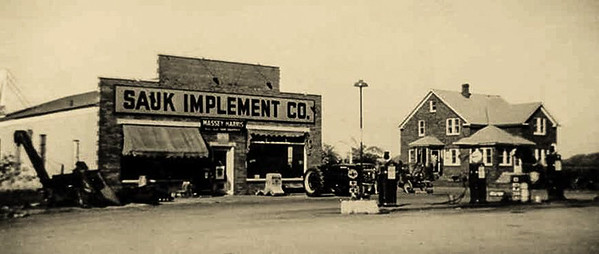 Sauk Implement Company, c. 1949, Sauk City, Wisconsin