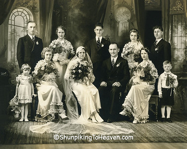 Ancestors on Wedding Day, 1935, with Our Mother as Flower Girl