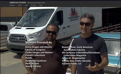 Credits for American Pickers Episode Entitled 'Can't Catch a Break'
