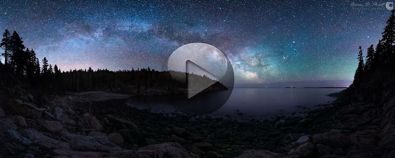 Milky Way over Hunter's Beach