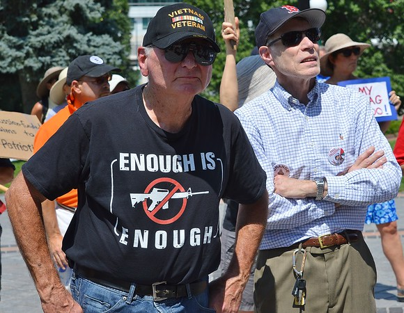 This VietNam veteran was among the protesters at the National March On the NRA in Denver.