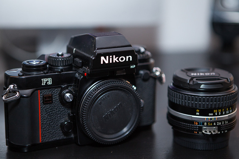 A Nikon F3HP and Nikkor 50mm f/1.4 AIS lens
