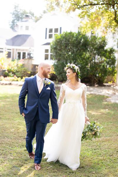 Bride and Groom Romantic Walk