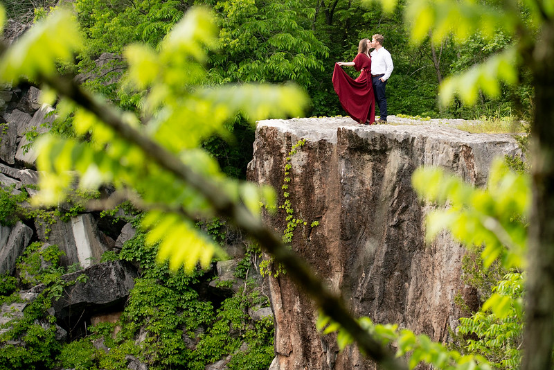 Rock Quarry Romantic Kiss