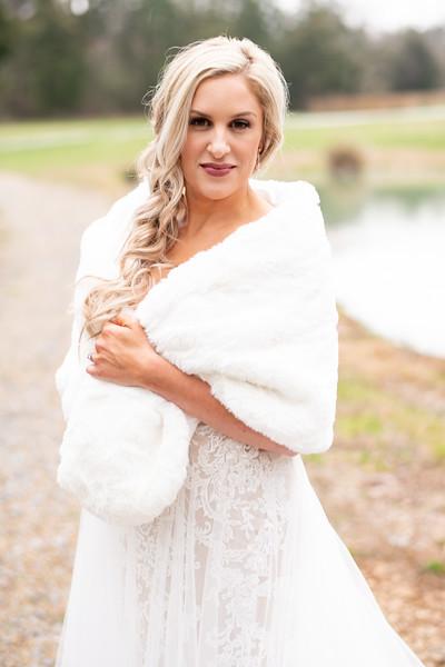 Bridal Portrait with Fur