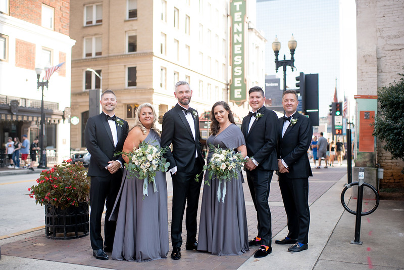 Groomsmen and Bridesmaids Downtown