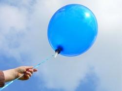 releasing a balloon