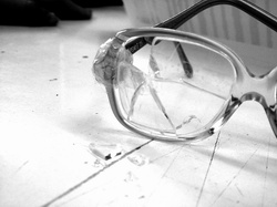 broken glasses