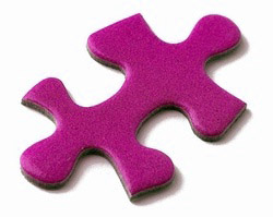purple puzzle piece