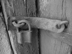 image of lock on door