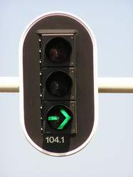 turn signal traffic light