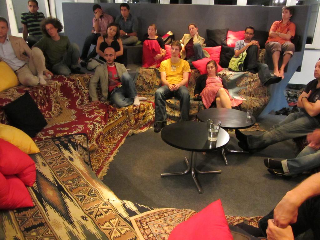 Während des Vortrags von Subhi Hadidi im Grazer Afro Asiatischen Institut am 17.9.2011
