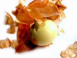 Peeling an onion