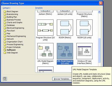 new visio file