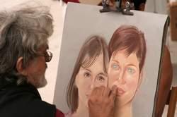 artist creating personas