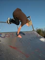 agile skateboarder