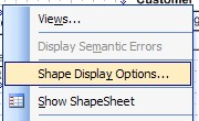 shape display options menu