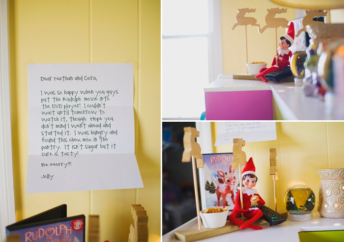 Elf gets homesick and watches Rudolph movie, Elf on the Shelf ideas by Carey Pace