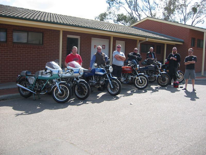 Johnny with his 75 Snowy and  860, Dougie 860 Scotty Darmy  Rob RIP S2 me and Paul.