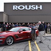 Jack Roush hands Mason Hemphill the keys to his new Roush Mustang.
