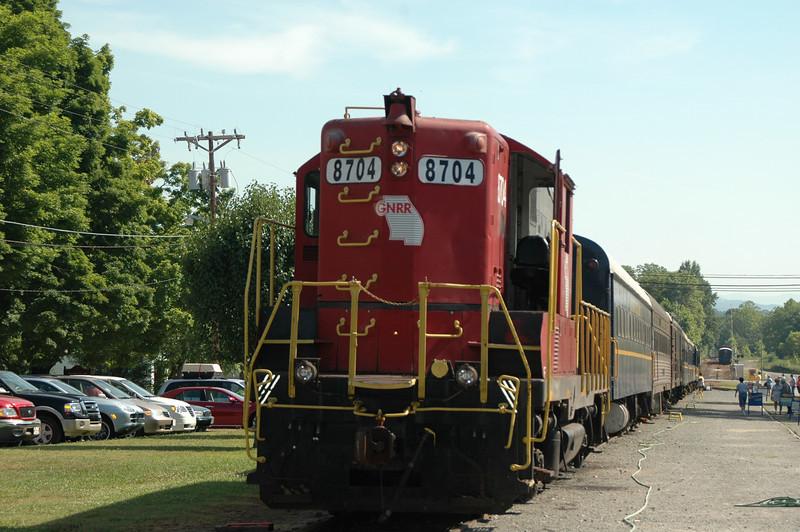 Locomotive #8704<br /> Model # GP7<br /> 1,500 HP<br /> Built 1951