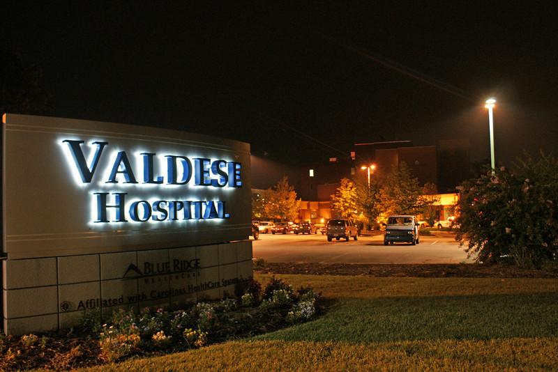 Valdese Hospital at Night