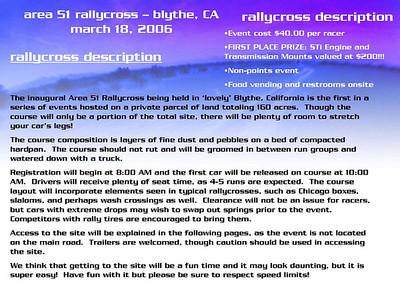 Blythe Rallycross Flyer