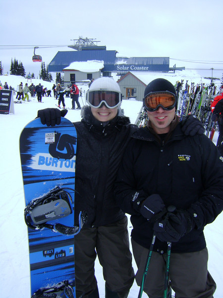 Laurence and Jason - top of blackcomb