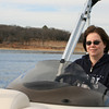 Connie's driving the boat