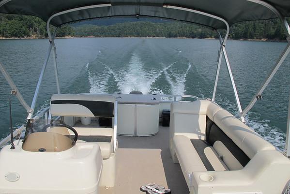 Boating on Lake Hiwassee-9-13