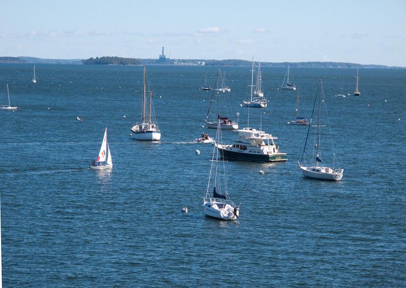 Morning activity in harbor of St. John's