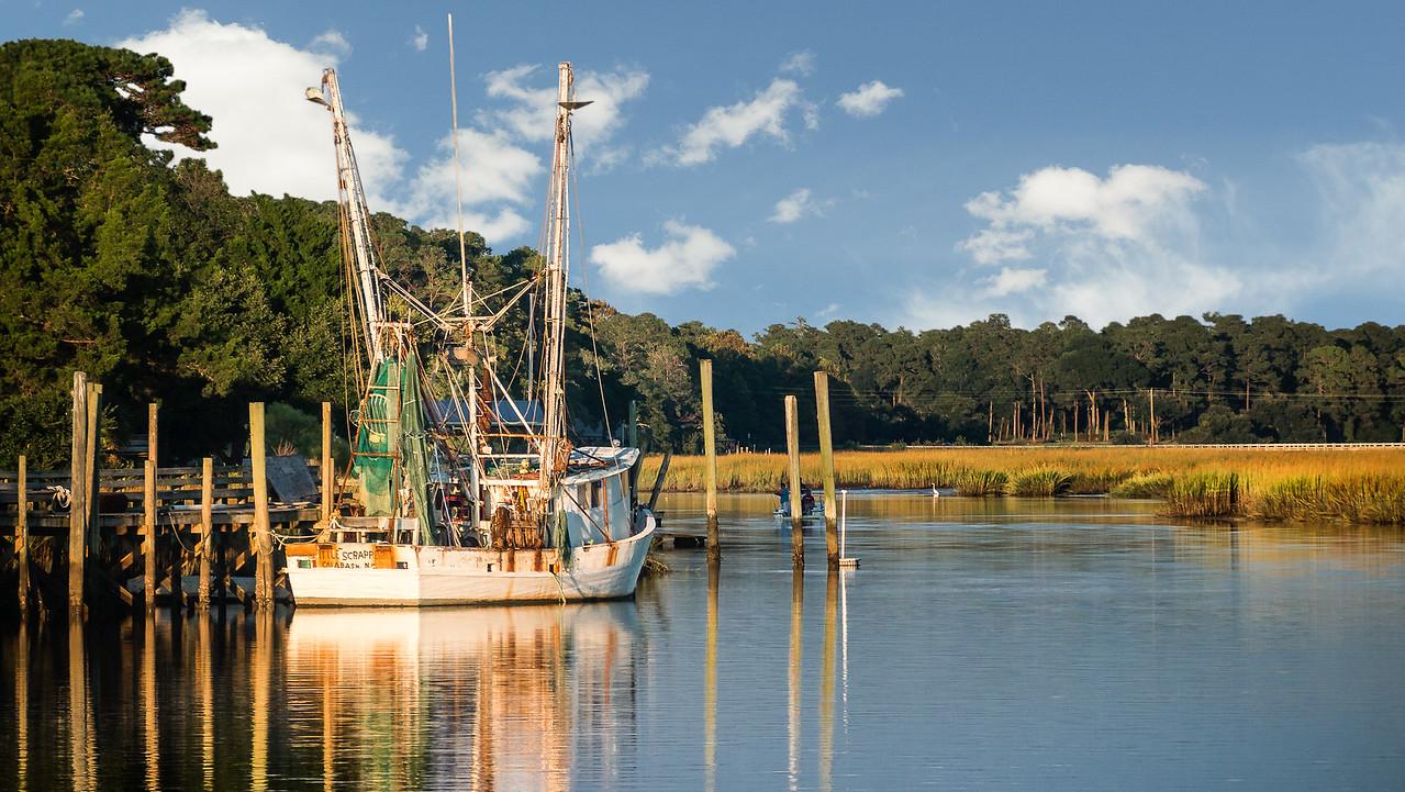 Calabash North Carolina scenery and working fishing boat