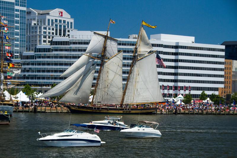 Pride of Baltimore docking.